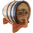 Personalised 'Bar Design' Oak Barrel