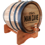 Personalised 'Man Cave Design' Oak Barrel