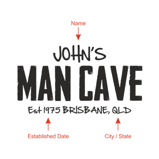 Personalised 'Man Cave Design'