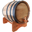 Black Hoop Barrel