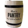 Personalised 'Mum's Pantry' Coffee Barrel