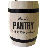 Personalised 'Mum's Pantry' Coffee Barrel