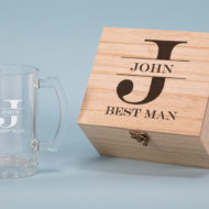 Best Man Design 500ml Personalised Beer Glass