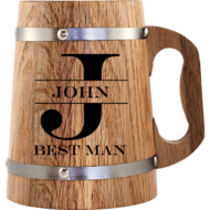 Personalised 'Best Man' Beer Mug