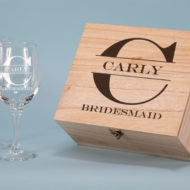 Bridesmaid Design 550 ml Wine Glass Boxed Gift Set